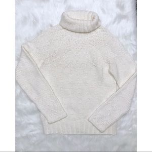 The Limited Crystal Beaded Turtleneck Sweater
